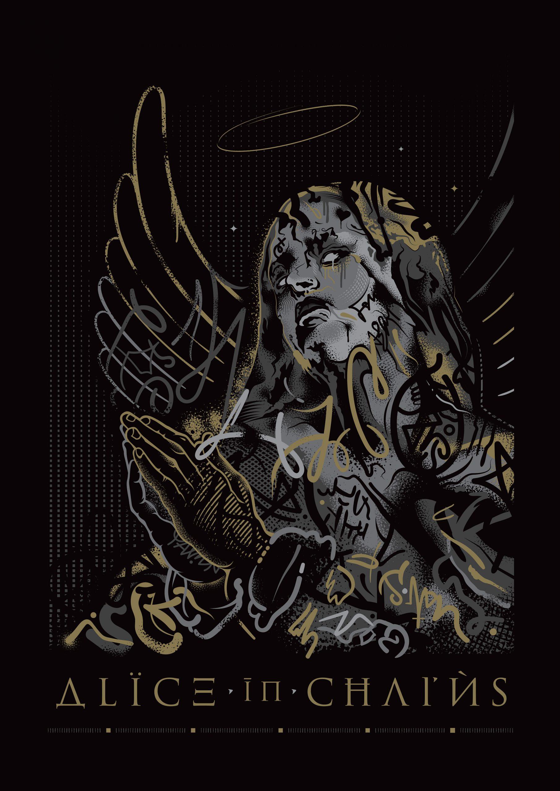 Alice In Chains - Merchandise Illustration