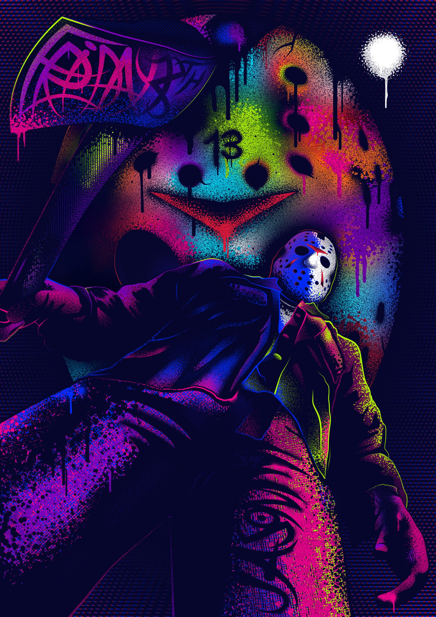 Friday The 13th Neon Poster