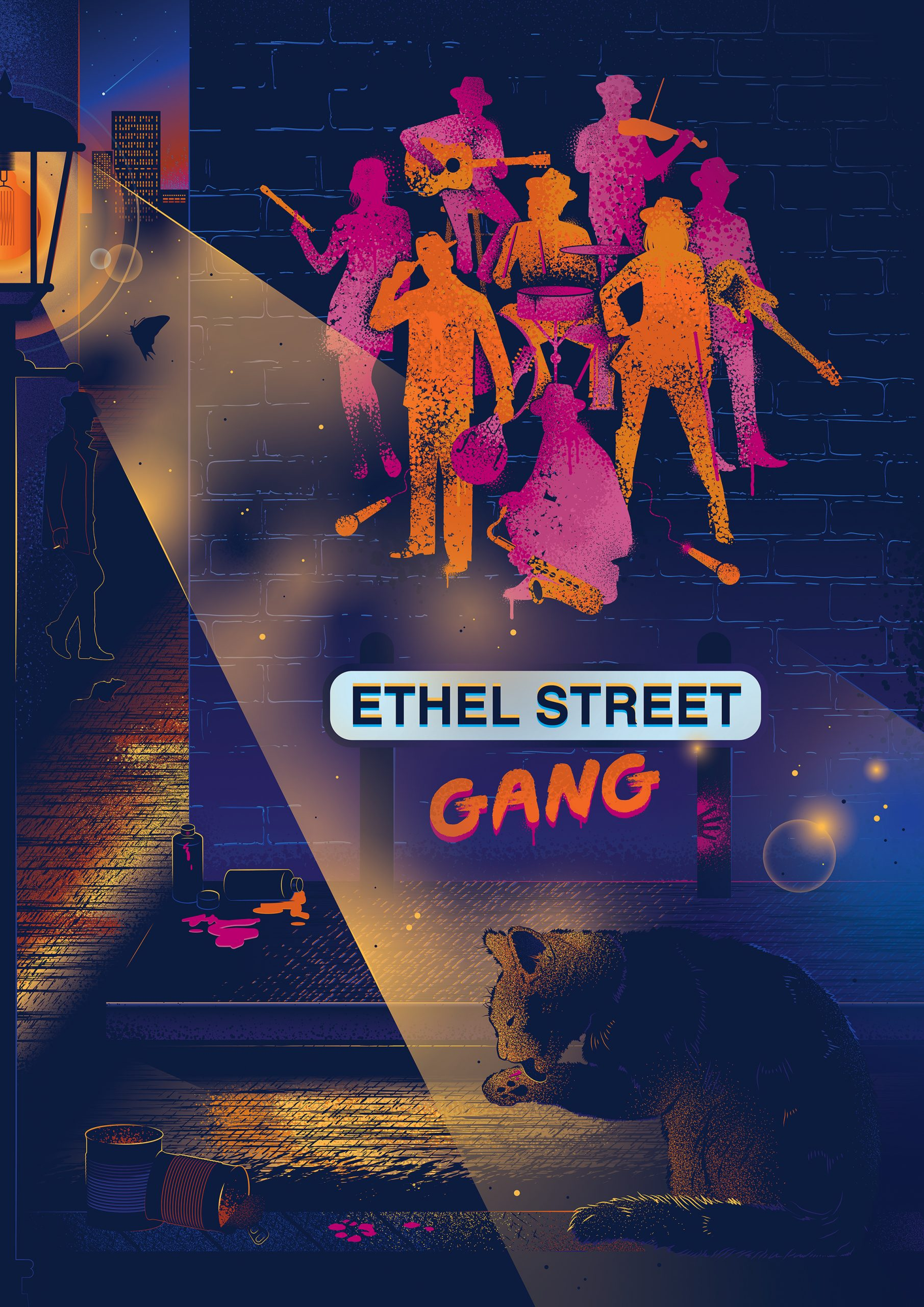 Ethel Street Gang Band Poster